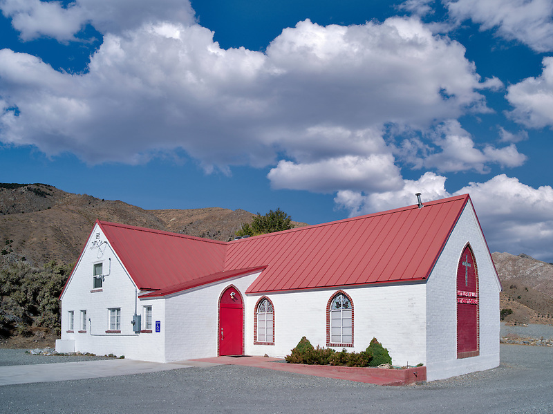 Antelope Valley Methodist Church. Eastern sierra Nevada Mountains, California
