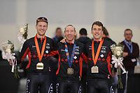 SPEEDSKATING: SALT LAKE CITY: 08-12-2017, Utah Olympic Oval, ISU World Cup, Team Pursuit Men, Team Canada (Benjamin Donnely, Ted-Jan Bloemen, Denny Morrison), ©photo Martin de Jong