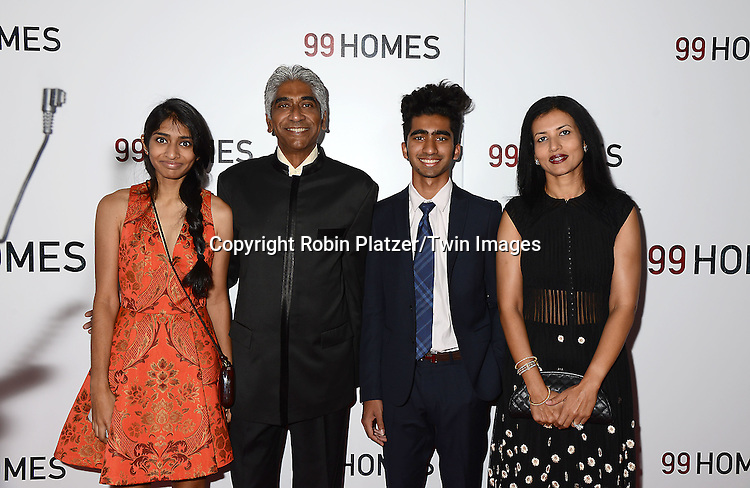 Ashok Amritraj and family attend the New York Premiere of &quot;99 Homes&quot; on September 17, 2015 at AMC Loews Lincoln Square in New York City, New York, USA.<br /> <br /> photo by Robin Platzer/Twin Images<br />  <br /> phone number 212-935-0770