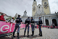 start podium is secured...<br /> <br /> stage 16: Bressanone/Brixen - Andalo 132km<br /> 99th Giro d'Italia 2016