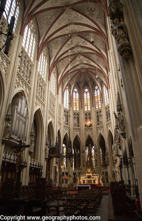 Interior of Saint John cathedral church, 's-Hertogenbosch, Den Bosch, North Brabant province, Netherlands