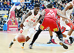 2015-10-31 / Basketbal / seizoen 2015-2016 / Antwerp Giants - Limburg United / Marius Mwendanga (Giants) probeert Stanton KIDD te passeren<br /><br />Foto: Mpics.be