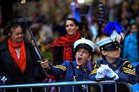 Children disguised as military members attend the annual Veterans Day parade in New York.  10.11.2014. Eduardo Munoz Alvarez/VIEWpress