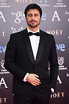 Hugo Silva poses in the photocall at the Goya Film Awards ceremony in Madrid on February 9, 2014.  Photo by Nacho Lopez/ DyD FOTOGRAFOS-DYDPPA