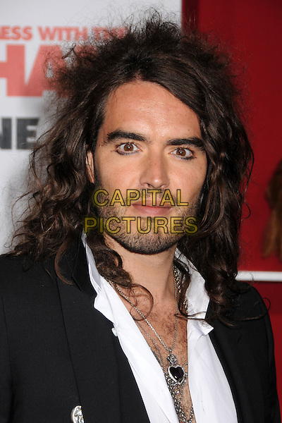 "RUSSELL BRAND.""You Don't Mess With The Zohan"" LA Premiere at Grauman's Chinese Theatre, Hollywood, California, USA..May 28th, 2008.headshot portrait eyeliner guyliner necklaces stubble facial hair .CAP/ADM/BP.©Byron Purvis/AdMedia/Capital Pictures."