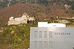 Castle of Vaduz, Neue Bank, Liechtenstein,