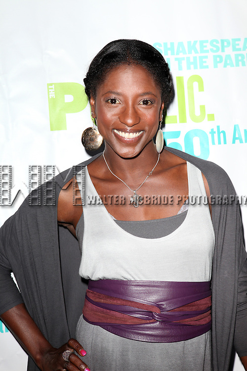 Actress Rutina Wesley attending the Opening Night Performance of The Public Theater's 'InTo The Woods' at the Delacorte Theater in New York City on 8/9/2012. © Walter McBride/WM Photography