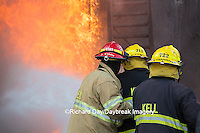 63818-02607 Firefighters at oilfield tank training, Marion Co., IL