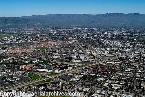 aerial photograph Santa Clara, San Jose, Santa Clara county, California