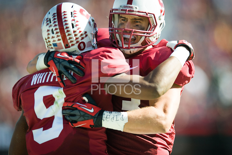STANFORD, CA - The Stanford Cardinal rallies in the second quarter to defeat the UCLA Bruins at Stanford Stadium.