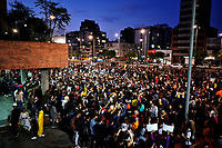 BOGOTÁ - COLOMBIA, 24-11-2019:Marchas del cuarto dia de paro Nacional./<br /> March of the fourth day of National strike. Photo: VizzorImage / Diego Cuevas / Contribuidor