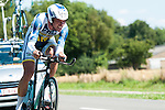 SITTARD, NETHERLANDS - AUGUST 16: Frederik Veuchelen of Belgium riding for Vacansoleil-DCM competes during stage 5 of the Eneco Tour 2013, a 13km individual time trial from Sittard to Geleen, on August 16, 2013 in Sittard, Netherlands. (Photo by Dirk Markgraf/www.265-images.com)