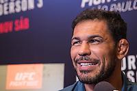 SÃO PAULO, SP, 05.11.2015 - UFC-SP -  Rodrigo Minotauro Nogueira durante entrevista coletiva no UFC Media Day, no hotel Hilton, na zona sul de São Paulo, na manhã desta quinta-feira, 05. (Foto: Adriana Spaca/Brazil Photo Press)