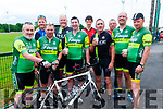 Kerry Crusaders Cycling Club Scenic Challenge: Pictured prior to the start of the Kerry Crusaders Cycling Club Challenge at Listowel Emmetts GAA grounds were members of the Finuge Cycling club. L-R : Paudie Stack, Danny O'Mahony, Pat Joe O'Sullivan, George O'Grady, Anthony Keane, William O'Connor, Brendan O'Grady, John Laide, Brendan O'Regan & Noel Moore.
