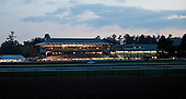 A panorama of the track before dawn.