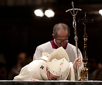 Papa Francesco celebra Messa in occasione del centenario della Congregazione per le Chiese Orientali nella Basilica di Santa Maria Maggiore a Roma, 12 ottobre 2017.<br /> Pope Francis celebrates a Mass on the occasion of the 100th anniversary of the Congregation for the Oriental Churches, at the Saint Mary Major Basilica in Rome, October 12, 2017.<br /> UPDATE IMAGES PRESS/Isabella Bonotto<br /> <br /> STRICTLY ONLY FOR EDITORIAL USE