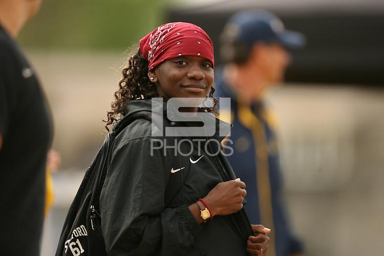 21 April 2006: Chauntae Bayne-Hackett during the Big Meet vs. California in Berkeley, CA.
