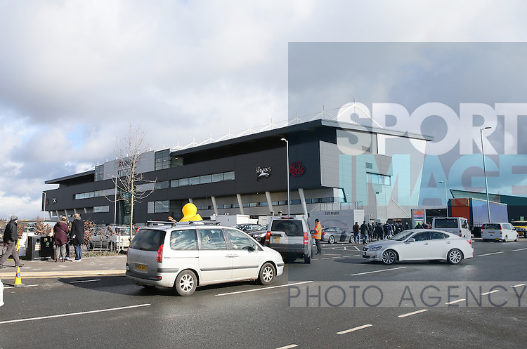 Exterior of the AJ bell stadium - Aviva Premiership - Sale Sharks vs Saracens - AJ Bell Stadium Stadium - Salford - Manchester - England - 21st February 2015 - Picture Simon Bellis/Sportimage