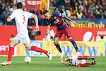 FC Barcelona'sNeymar Junior and Sevilla CF's  during Spanish Kings Cup Final match. May 22,2016. (ALTERPHOTOS/Rodrigo Jimenez)