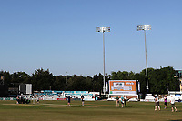 The floodlights come on during the second meal break during Essex CCC vs Somerset CCC, Specsavers County Championship Division 1 Cricket at The Cloudfm County Ground on 25th June 2018