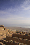 Israel, Judean desert, the storerooms complex at Masada