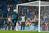 6th December 2017, Santiago Bernabeu, Madrid, Spain; UEFA Champions League football, Real Madrid versus Dortmund; Francisco Casilla Cortes (13) Real Madrid Pre-match warm-up