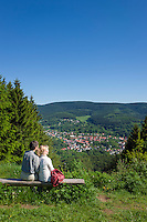 Deutschland, Thueringen, bei Zella-Mehlis: Blick auf den Ortsteil Goldlauter<br /> | Germany, Thuringia, near Zella-Mehlis: view at district Goldlauter
