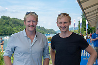 Lucerne, SWITZERLAND, 12th July 2018, Friday  FISA World Cup series, No.3, Lake Rotsee, Lucerne,  Photographer Karon PHILLIPS, Left, Eric MURRAY and Hamish BOND,