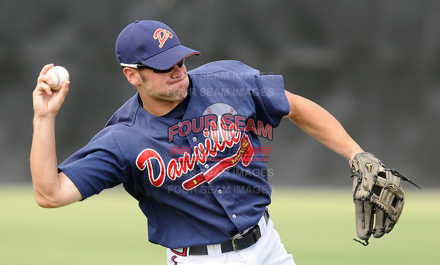July 15, 2009: Infielder Travis Adair (5) of the Danville Braves, rookie Appalachian League affiliate of the Atlanta Braves, prior to a game at Dan Daniel Memorial Park in Danville, Va. Photo by:  Tom Priddy/Four Seam Images