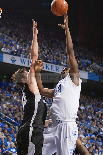 Center Dakari Johnson of the Kentucky Wildcats shoots during the second half of the game against the Providence Friars at Rupp Arena on Sunday, November 30, 2014 in Lexington, Ky. Kentucky defeated Providence 58-38. Photo by Michael Reaves | Staff