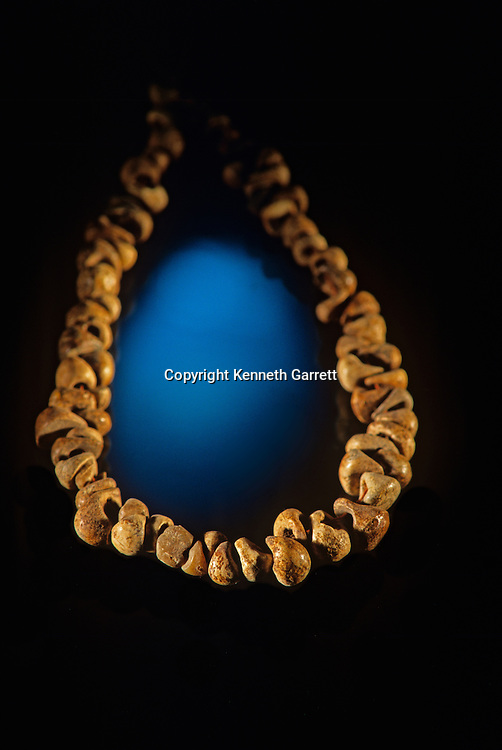 Neandertal; Neanderthal; Human Evolution; Les Eyzies, France, Dorgogne River, Valley, Museum, Roc du Marsal, Neandertal Child, necklace, Personal Adornment