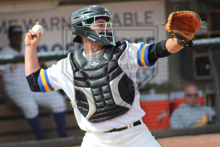 APPLETON - APRIL 2011: Tyler Roberts (28) of the Wisconsin Timber Rattlers, Class-A affiliate of the Milwaukee Brewers, during a game on April 10, 2011 at Fox Cities Stadium in Appleton, Wisconsin. (Photo by Brad Krause) ....