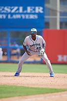 Daytona Tortugas first baseman Ibandel Isabel (49) during a game against the Dunedin Blue Jays on April 22, 2018 at Dunedin Stadium in Dunedin, Florida.  Daytona defeated Dunedin 5-1.  (Mike Janes/Four Seam Images)