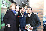 Ged Nash and Joan Burton canvassing in Wheaton Hall. Pictured here with Imad Habbal from the Lebanon and Abanoub Shenouda from Egypt...(Photo credit should read Jenny Matthews www.newsfile.ie)....This Picture has been sent you under the conditions enclosed by:.Newsfile Ltd..The Studio,.Millmount Abbey,.Drogheda,.Co Meath..Ireland..Tel: +353(0)41-9871240.Fax: +353(0)41-9871260.GSM: +353(0)86-2500958.email: pictures@newsfile.ie.www.newsfile.ie.