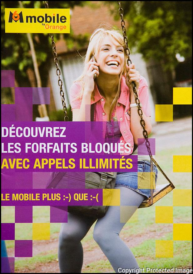 Publicité<br /> M6 mobile by Orange