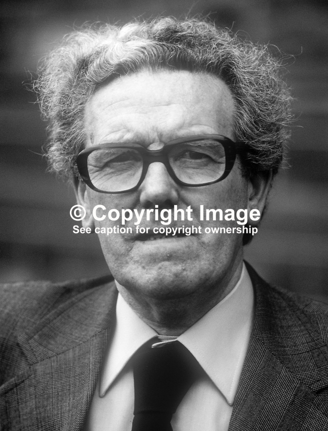 Andrew Barr, regional secretary, UK National Union of Sheet Metal Workers, chairman, Communist Party of Ireland, 197805000129AB.<br /> <br /> Copyright Image from Victor Patterson,<br /> 54 Dorchester Park, <br /> Belfast, UK, BT9 6RJ<br /> <br /> t1: +44 28 9066 1296 (from Rep of Ireland 048 9066 1296)<br /> t2: +44 28 9002 2446 (from Rep of Ireland 048 9002 2446)<br /> <br /> m: +44 7802 353836<br /> <br /> e: victorpatterson@me.com<br /> www.victorpatterson.com<br /> <br /> Please see my Terms and Conditions of Use at www.victorpatterson.com. It is IMPORTANT that you familiarise yourself with them.<br /> <br /> Images used on the Internet must be visibly watermarked i.e. &copy; Victor Patterson<br /> within the body of the image and copyright metadata must not be deleted. Images <br /> used on the Internet have a size restriction of 4kbs and will be chargeable at current<br />  NUJ rates unless agreed otherwise.<br /> <br /> This image is only available for the use of the download recipient i.e. television station, newspaper, magazine, book publisher, etc, and must not be passed on to any third <br /> party. It is also downloaded on condition that each and every usage is notified within 7 days to victorpatterson@me.com<br /> <br /> The right of Victor Patterson to be identified as the author is asserted in accordance with The Copyright Designs And Patents Act (1988). All moral rights are asserted.
