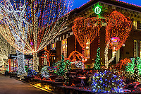 Lights of the Ozarks on the historic downtown square in Fayetteville Arkansas features 1/2 milliion lights.