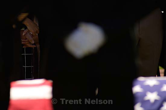 Funeral for Brandon Thomas, a green beret killed in Iraq while working as a civilian security contractor.; 5.24.2005<br />