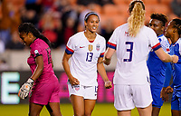 HOUSTON, TX - JANUARY 28: Lynn Williams #13 of the United States celebrates during a game between Haiti and USWNT at BBVA Stadium on January 28, 2020 in Houston, Texas.