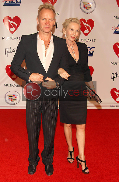 Sting and Trudie Styler<br />at the 2006 MusiCares Person of the Year Gala. Los Angeles Convention Center, Los Angeles, CA 02-06-06<br />Dave Edwards/DailyCeleb.com 818-249-4998