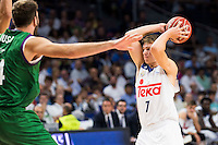 Real Madrid's player Luka Doncic during match of Liga Endesa at Barclaycard Center in Madrid. September 30, Spain. 2016. (ALTERPHOTOS/BorjaB.Hojas) /NORTEPHOTO.COM