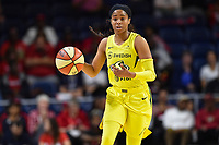 Washington, DC - June 14, 2019: Seattle Storm guard Jordin Canada (21) in action during game between Seattle Storm and Washington Mystics at the St. Elizabeths East Entertainment and Sports Arena in Washington, DC. The Storm hold on to defeat the Mystics 74-71. (Photo by Phil Peters/Media Images International)