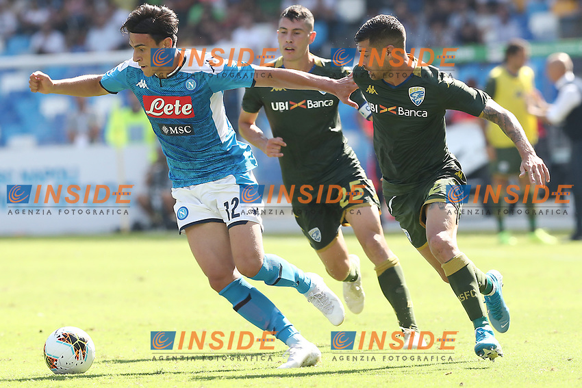 Eljif Elmas of Napoli  in action<br /> Napoli 29-9-2019 Stadio San Paolo <br /> Football Serie A 2019/2020 <br /> SSC Napoli - Brescia FC<br /> Photo Cesare Purini / Insidefoto
