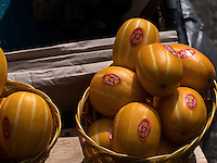 Obst auf dem Jagalchi-Fischmarkt, Busan, Gyeongsangnam-do, S&uuml;dkorea, Asien<br /> fruits, Jagalchi fishmarket, Busan,  province Gyeongsangnam-do, South Korea, Asia