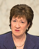 "United State Senator Susan Collins (Republican of Maine), Chairman, listens to testimony before the United States Senate Committee on Aging hearing on ""Valeant Pharmaceuticals' Business Model: the Repercussions for Patients and the Health Care System"" on Capitol Hill in Washington, DC on Wednesday, April 27, 2016.  Valeant raised the price of four life-saving drugs: Isuprel by about 720 percent; Nitropress by 310 percent; Cuprimine by 5,878 percent, and Syprine by 3,162 percent after acquiring them in 2015. It is the high prices that are now at the heart of two congressional probes.<br /> Credit: Ron Sachs / CNP"