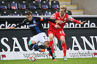 Marc-Andre Kruska (FSV) gegen Ben Halloran (Fortuna)- FSV Frankfurt vs. Fortuna Düsseldorf, Frankfurter Volksbank Stadion