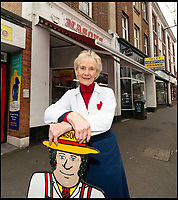 BNPS.co.uk (01202 558833)<br /> Pic: RogerArbon/BNPS<br /> <br /> Steakholder - Pat(80).<br /> <br /> Britain's longest-serving butcher fears achievements like hers are headed for the chop thanks to the demise of the high street.<br /> <br /> Pat Jenkins, who has recently celebrated her 80th birthday, has been working as a butcher for 60 years after joining her father Albert Musselwhite in the family business in 1958.<br /> <br /> She learnt everything she knows on the job, at a time when female butchers were completely unheard of, and still runs Mason's in Bournemouth, Dorset, with her son Andrew, 55.<br /> <br /> But Pat says the struggling high street cannot recover and local butchers are a dying breed.<br /> <br /> Their shop on Christchurch Road was once one of 11 butchers on the three-mile stretch, but now they are the only one still going.