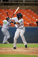Lynchburg Hillcats third baseman Jorma Rodriguez (9) at bat during the second game of a doubleheader against the Frederick Keys on June 12, 2018 at Nymeo Field at Harry Grove Stadium in Frederick, Maryland.  Frederick defeated Lynchburg 8-1.  (Mike Janes/Four Seam Images)