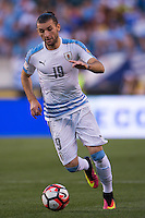 Action photo during the match Uruguay vs Venezuela at Lincoln Financial Field Stadium Copa America Centenario 2016. ---Foto  de accion durante el partido Uruguay vs Venezuela, En el Estadio Lincoln Financial Field Partido Correspondiante al Grupo - C -  de la Copa America Centenario USA 2016, en la foto: Gaston Silva<br /> --- 09/06/2016/MEXSPORT/Osvaldo Aguilar.