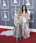 Katy Perry and grandma attends The 53rd Annual GRAMMY Awards held at The Staples Center in Los Angeles, California on February 13,2011                                                                               © 2010 DVS / Hollywood Press Agency